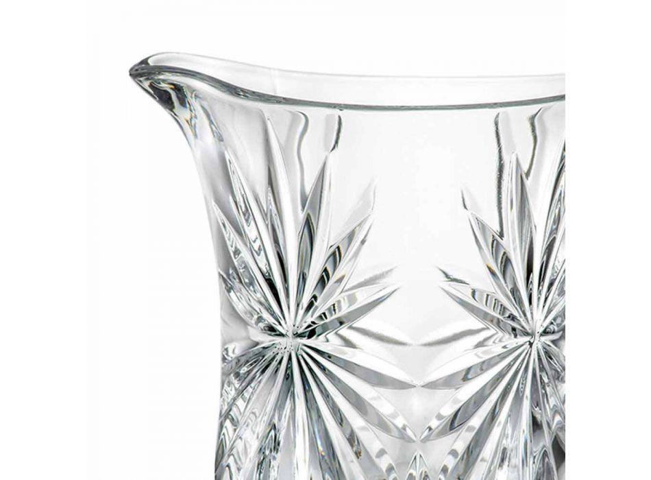 2 Brocche Acqua Design con Decoro in Vetro Sonoro Superiore Ultraclear - Daniele