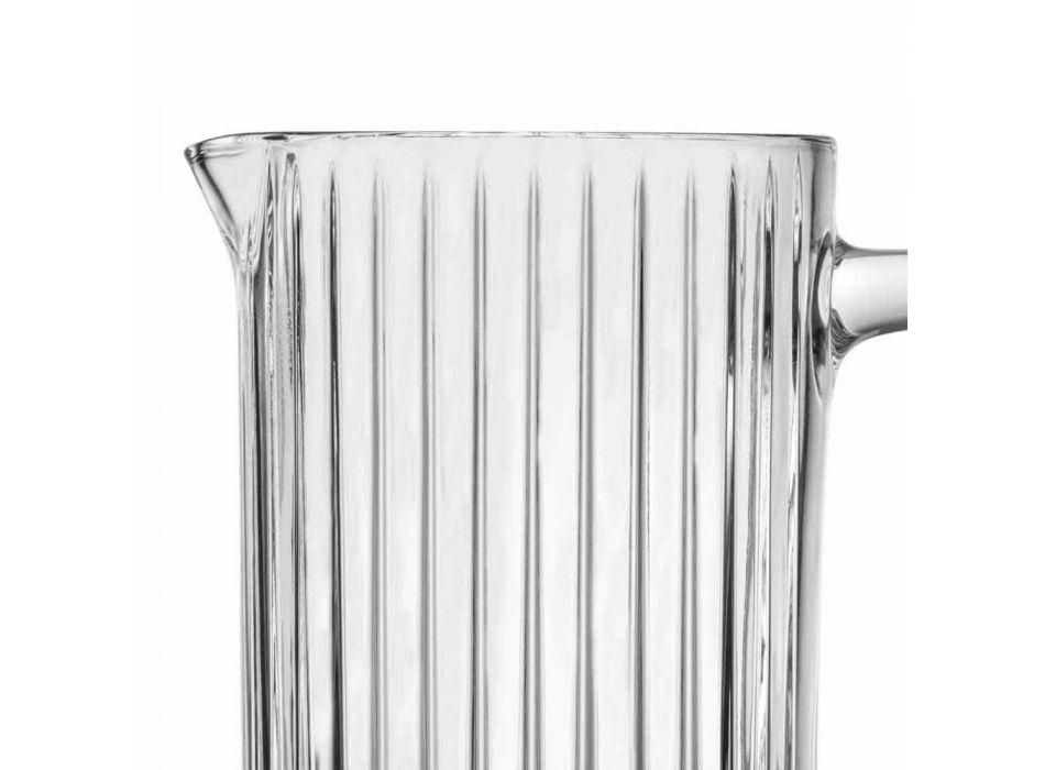 2 Brocche Acqua e Bibite in Eco Cristallo Decorato Design di Lusso - Senzatempo