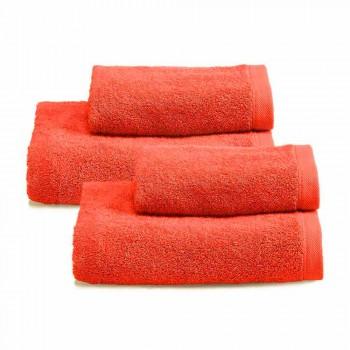 2 Coppie di Asciugamani da Bagno Servizio Colorato in Spguna di Cotone - Vuitton