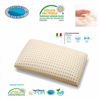2 cuscini anallergici e traspiranti in Memory Foam Memory 5 Zone