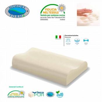 2 cuscini anallergici ergonomici in Memory Foam Memory Cervicale