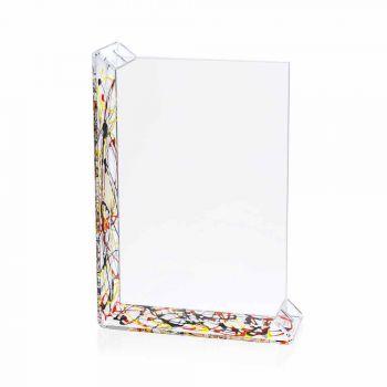 2 Portafoto Multiplo da Tavolo in Plexiglass Colorato o con Legno - Menelao