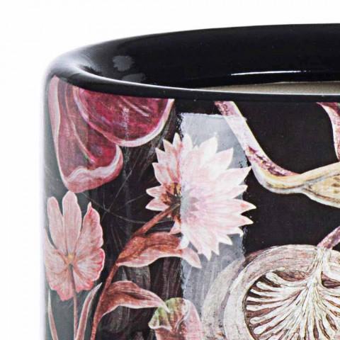 2 Portaombrelli in Porcellana con Decalcomania a Fiori Homemotion - Jolly