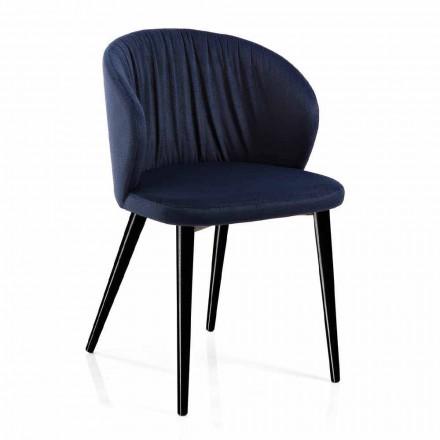 2 Sedie da Soggiorno in Tessuto e Frassino di Design Elegante - Reginaldo