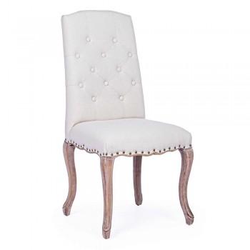 2 Sedie per Sala da Pranzo con Seduta Imbottita e Rivestita Homemotion - Mania