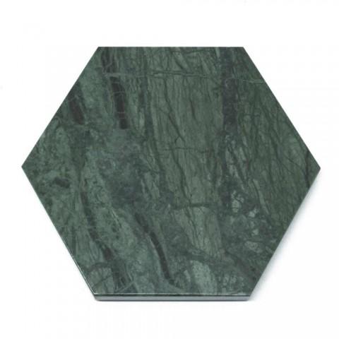 2 Sottobicchieri Esagonali in Marmo Bianco, Nero o Verde Made in Italy - Paulo