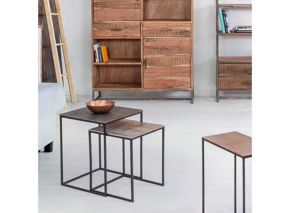 2 Tavolini da Salotto in Alluminio e Acciaio Verniciato Homemotion - Sereno