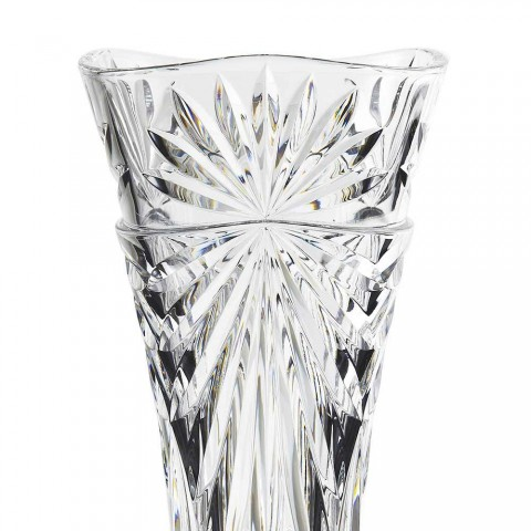 2 Vasi di Decoro da Tavola in Cristallo Ecologico Unico di Design - Daniele