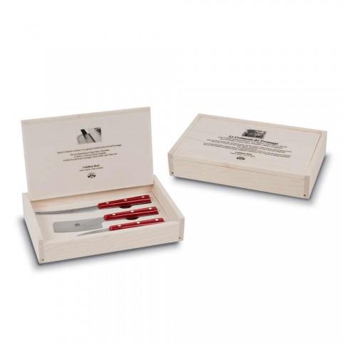 3 Coltelli da Formaggio Acciaio Inox Berti in Esclusiva per Viadurini - Asiago