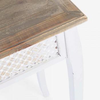 3 Consolle in Legno di Abete Bambù e Mdf di Design in Stile Classico - Camalow