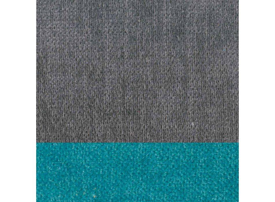 4 Sedie da Soggiorno Design Moderno Elegante in Tessuto con Bordino - Scarat