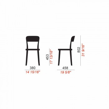 4 Sedie Impilabili da Esterno in Polipropilene di Design Made in Italy - Alexus