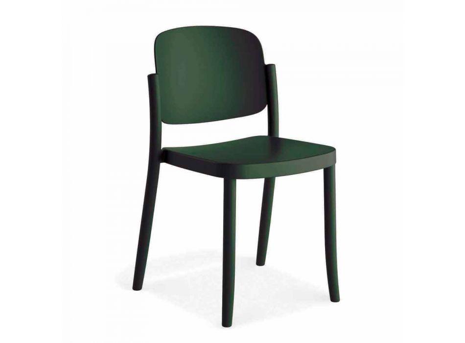 4 Sedie Moderne da Esterno Impilabili in Polipropilene Made in Italy - Bernetta