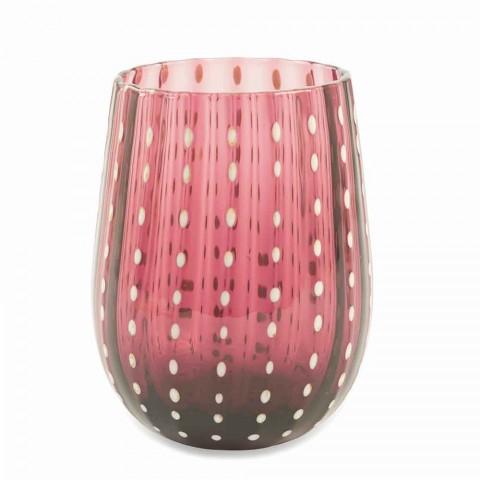 6 Bicchieri in Vetro Colorati e Moderni per Acqua Servizio Elegante - Persia