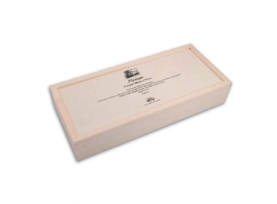 6 Coltelli Plenum a Lama Liscia Berti in Esclusiva per Viadurini - Andalo