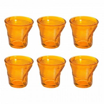 12 Tazzine Bicchieri Accartocciati da Caffè in Vetro Design Colorato - Sarabi