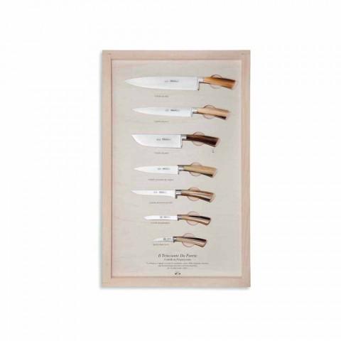 7 Coltelli da Parete Acciaio Inox Berti in Esclusiva per Viadurini - Modigliani