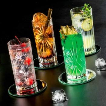 8 Bicchieri Highball Tumbler Alti per Cocktail in Eco Cristallo - Malgioglio