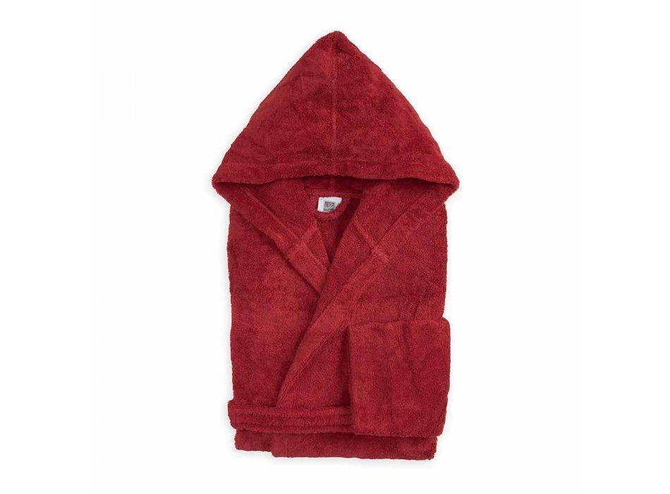 Accappatoio Colorato con Cappuccio di Lusso in Spugna di Cotone - Vuitton