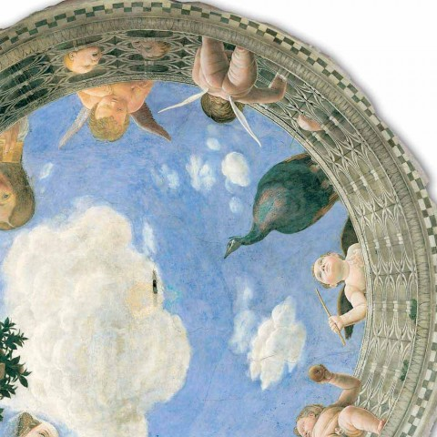 """Affresco Andrea Mantegna """"Oculo con Putti e Dame Affacciati"""""""