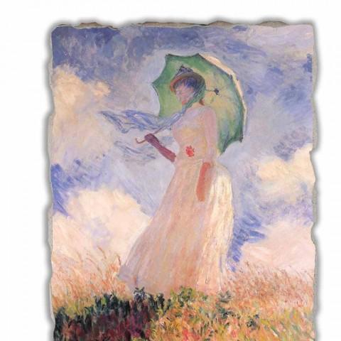 "Affresco Calude Monet ""Donna con Parasole Girata verso Sinistra"""