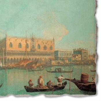 """Affresco Canaletto """"Veduta del Palazzo Ducale di Venezia"""""""