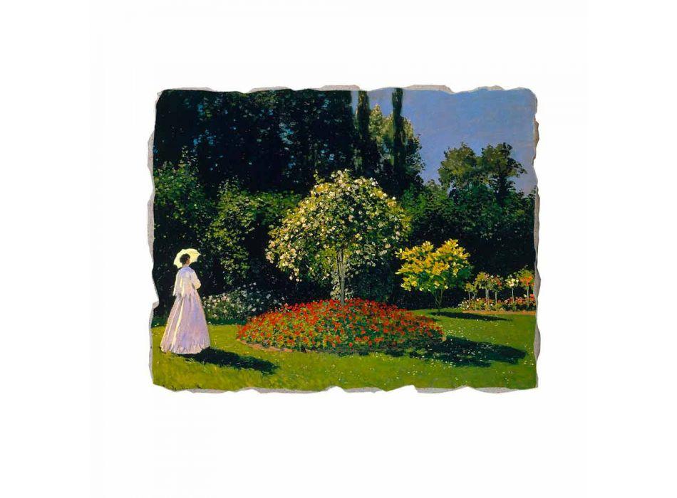 "Affresco Claude Monet ""Signora in Giardino a Sainte-Adresse"""