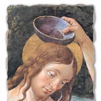 """Affresco fatto a mano Perugino """"Battesimo di Cristo"""""""
