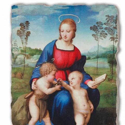 """Affresco fatto a mano Raffaello Sanzio """"Madonna del Cardellino"""""""