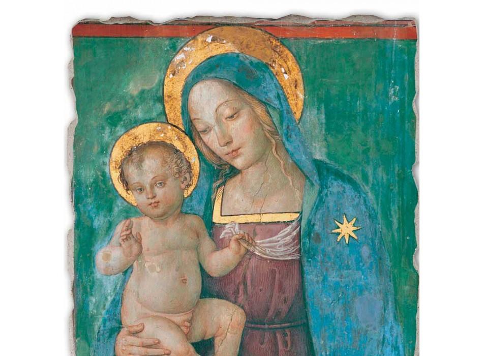 """Affresco fatto in Italia Pinturicchio """"Madonna col Bambino"""""""
