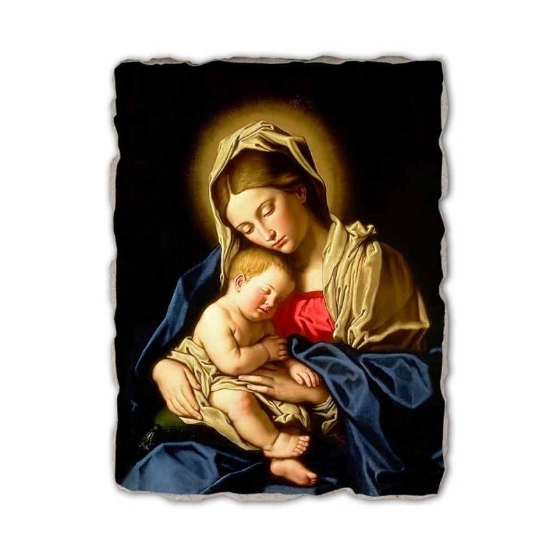 """Affresco fatto in Italia Sassoferrato """"Madonna con Bambino"""""""