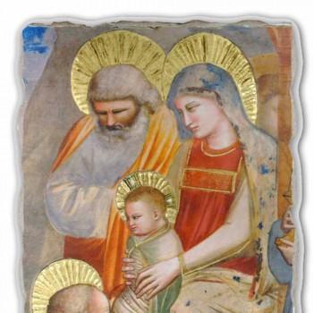 """Affresco Giotto """"Adorazione dei Magi"""" fatto a mano in Italia"""