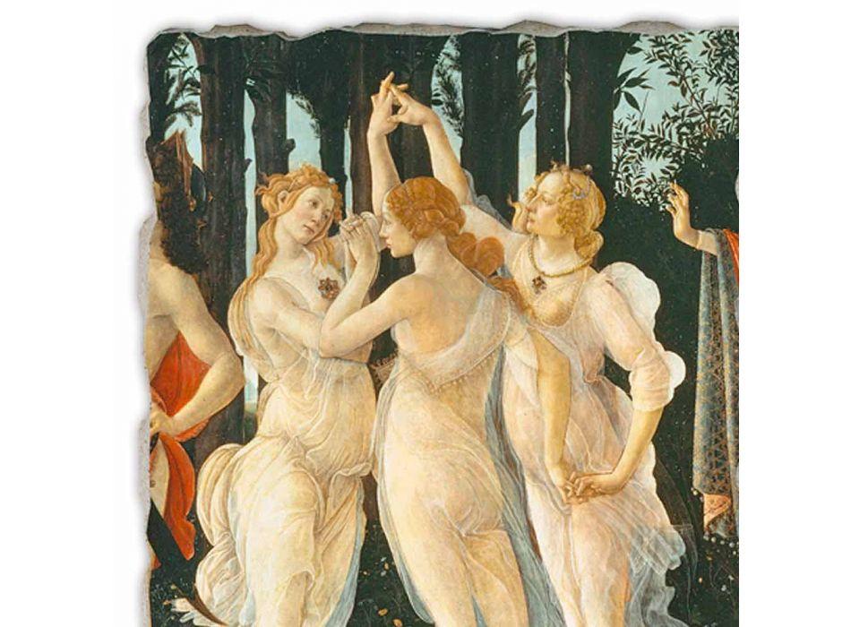 """Affresco grande Botticelli """"Allegoria della Primavera"""" part."""