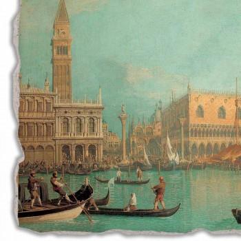 """Affresco grande Canaletto """"Veduta del Palazzo Ducale di Venezia"""""""