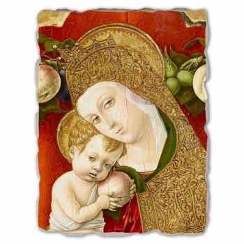 """Affresco grande Carlo Crivelli """"Madonna Lochis"""" 1475"""