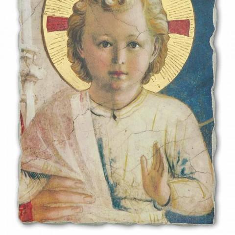 """Affresco grande fatto a mano Beato Angelico """"Madonna Ombre"""""""