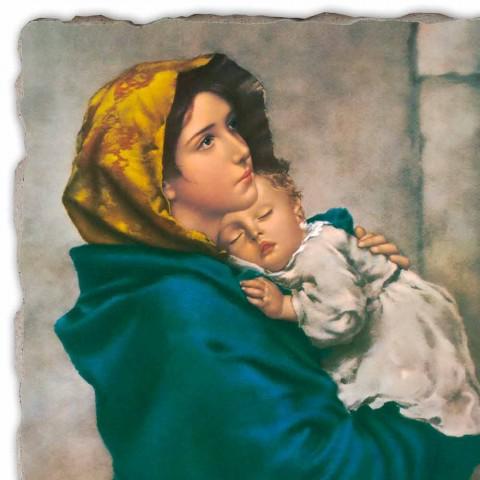 """Affresco grande fatto a mano Ferruzzi """"Madonna del Riposo"""""""