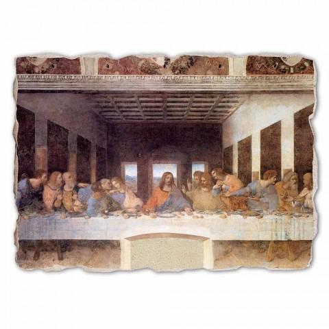 """Affresco grande fatto a mano Leonardo da Vinci """"L'Ultima Cena"""""""