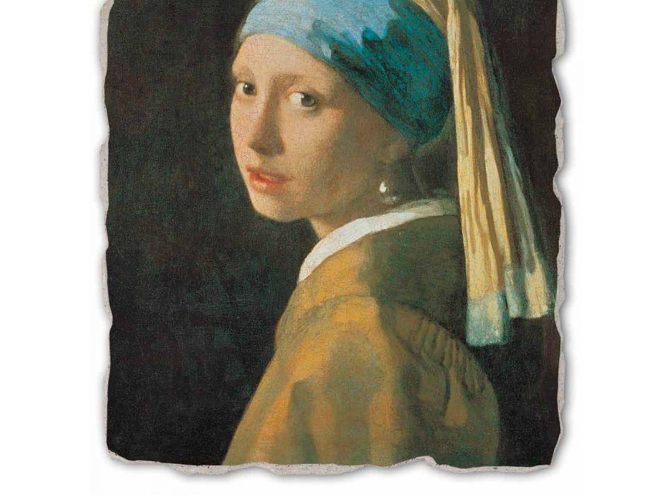 "Affresco grande fatto a mano Vermeer ""Fanciulla con Turbante"""