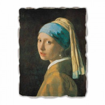 "Affresco grande fatto a mano Vermeer ""Fanciulla con Turbante"""