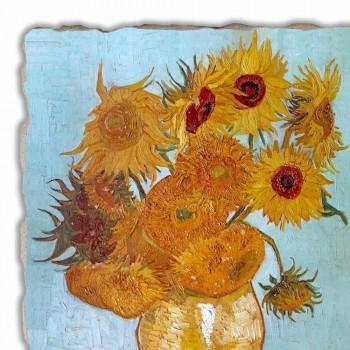 """Affresco grande fatto a mano Vincent Van Gogh """"Vaso di Girasoli"""""""