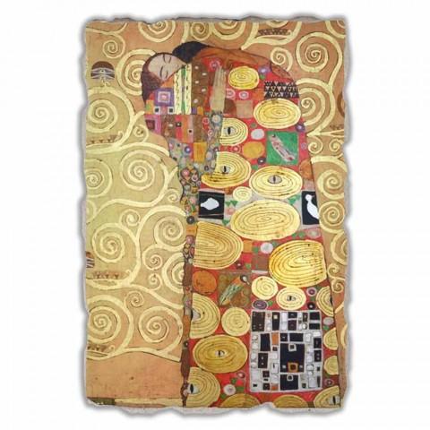 """Affresco grande fatto in Italia Gustav Klimt """"L'Abbraccio"""""""
