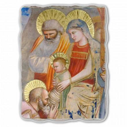 """Affresco grande Giotto """"Adorazione dei Magi"""" fatto in Italia"""