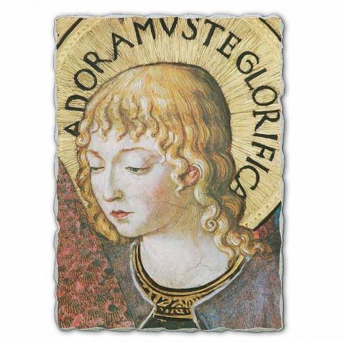 """Affresco grande Gozzoli """"Cori di Angeli in Adorazione""""-1454"""