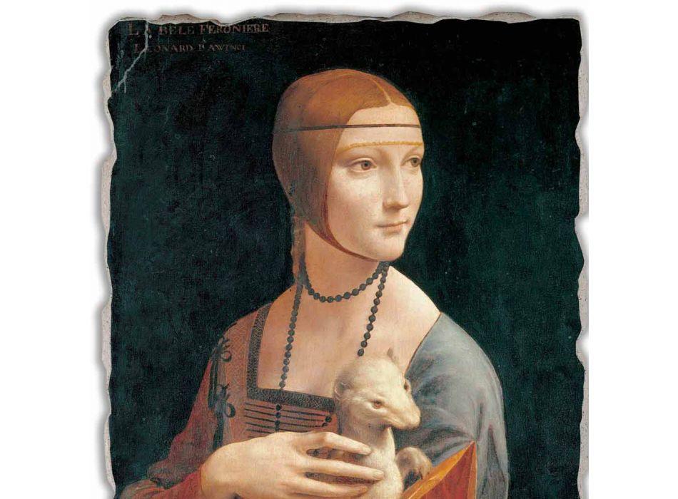 """Affresco grande Leonardo da Vinci """"La Dama con l'Ermellino"""""""