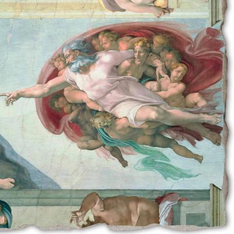 """Affresco grande Michelangelo """"Creazione di Adamo"""", fatto a mano"""