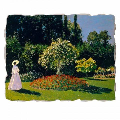 "Affresco grande Monet ""Signora in Giardino a Sainte-Adresse"""