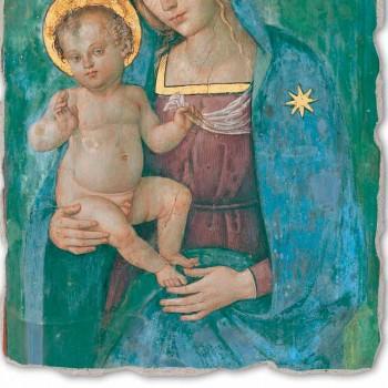 """Affresco grande Pinturicchio """"Madonna col Bambino"""" fatto a mano"""