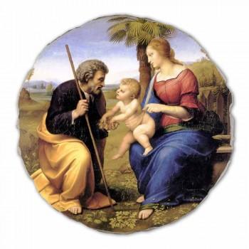"""Affresco grande Raffaello Sanzio """"Sacra Famiglia con Palma"""""""
