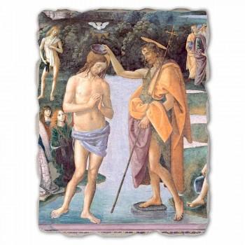 """Affresco grande riproduzione Perugino """"Battesimo di Cristo"""""""